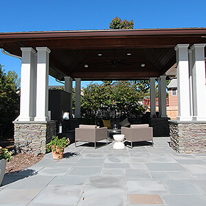 Covered patio in Paramus, NJ